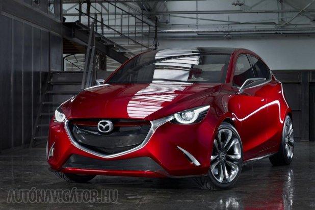 Vajon az új Yarisnak és az új Mazda2-nek csak a motorja lesz közös? A képen a Mazda Hazumi koncepció