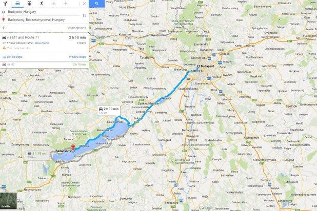 Például Badacsonyba a legrövidebb út − elvileg. M7, 710, 71. Ha nincsenek sokan, jó, gyors, egész rövid, a 710-et dobva Akarattyától szép is végig a Balaton mellett