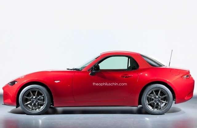 Mazda MX-5 nyitható fémtetős és kupé kivitelben, nem hivatalos grafikán