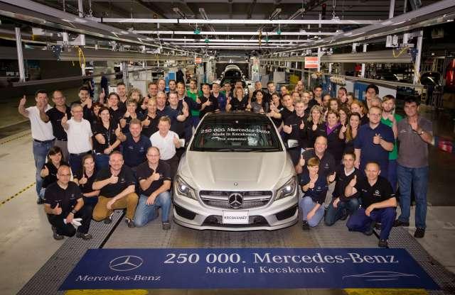 Termelési jubileum a Mercedes-Benz kecskeméti gyárában