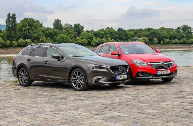 Összevetés: Mazda6 Sportkombi CD175 AWD AT vs. Opel Insignia Country Tourer 2.0 CDTI