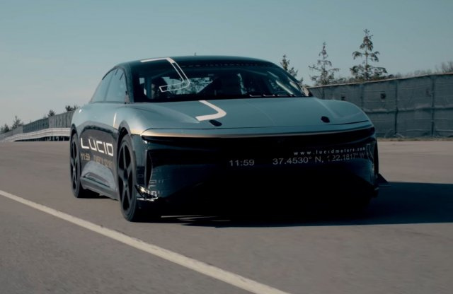 A Lucid Motors Air Alpha prototípusa 350 km/h-ra is képes