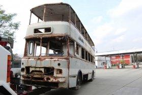 Otthon, édes otthon! − a Pannon Volán autómentője tavaly ősszel hozta el Budapestről a jobb sorsra érdemes emeletes buszt