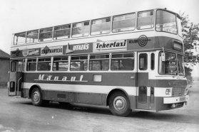 Két Ikarus 556 típusú autóbusz összeépítéséből született meg az első magyar emeletes, 1968 végén
