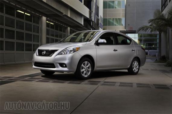 Olcsó, méreteivel az alsó-középkategóriát alulról közelítő szedánnak ígérkezik a Nissan Versa