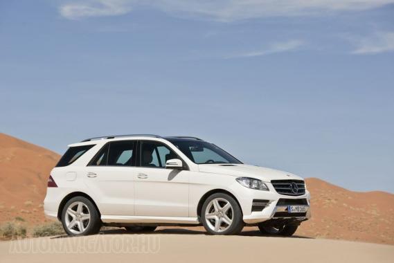 Kategóriája legjobb, Cd=0,32 alaktényezőjét mutatja fel az új Mercedes-Benz ML