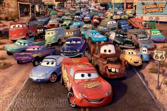 Hírességek után leginkább rajzfilmfigurákról nevezik el autójukat az angolok, népszerű például a Verdák Villám McQueenje
