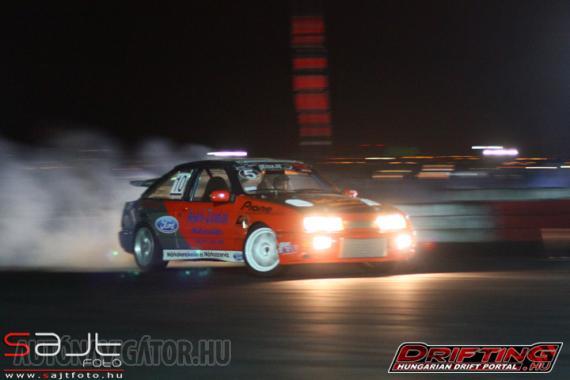 Zentai Attila idén először állt rajthoz Ford Sierrájával, kvalifikációs harmadik helyen végzett