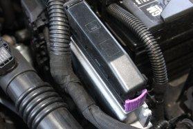 Üzemmódváltó kapcsoló és a szépen beszerelt gázkompjúter