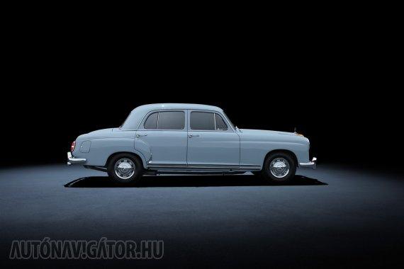 A Ponton (W180 és W128) modellek a korábbi gyakorlattal ellentétben a karosszériába integrált első sárvédőikről kapták nevüket