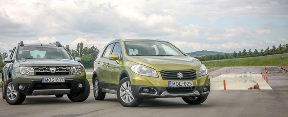 Dacia Duster 1.2 TCe kontra Suzuki SX4 S-Cross 1.6l VVT összehasonlító teszt