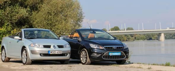 Használtteszt: Ford Focus CC 2.0 TDCi, 2008 vs. Renault Mégane CC 1.9 dCi, 2005