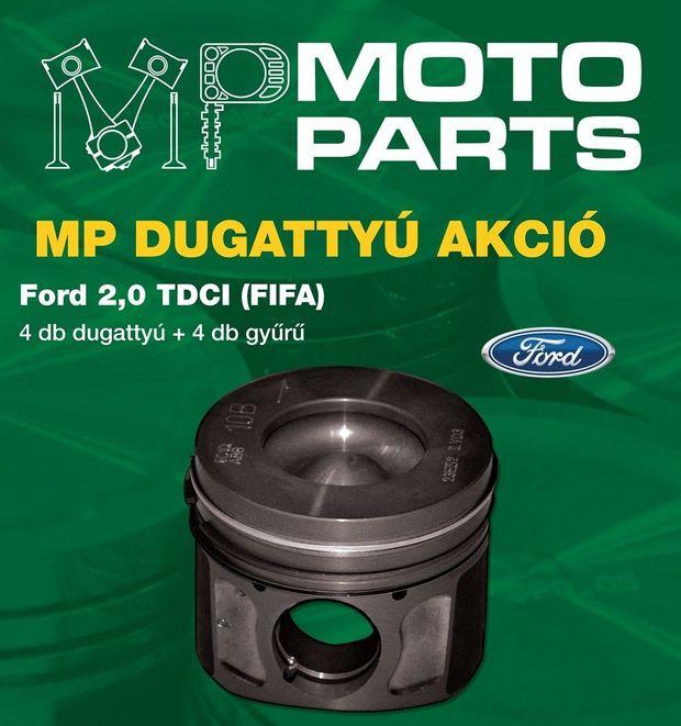 Négy dugattyú gyűrűkkel együtt 100 000 forintért a Ford 2.0 TDCI motorjához