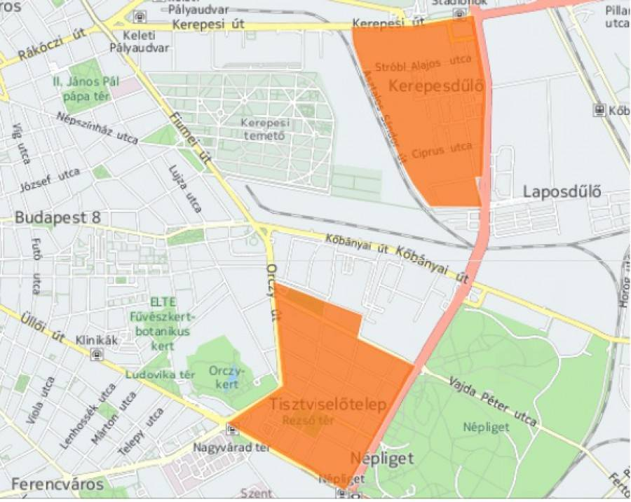 A VIII. kerületben a Hungária körúton belül, a XIII. kerületben azon kívül vezetnének be új fizetős övezeteket