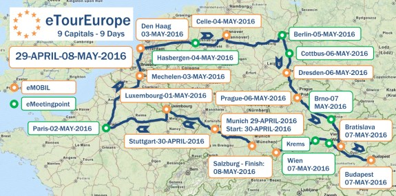 A verseny lényegében egy remek európai körút - 3900 kilométeren, végig villannyal